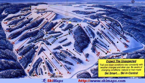 Afton Alps Piste / Trail Map