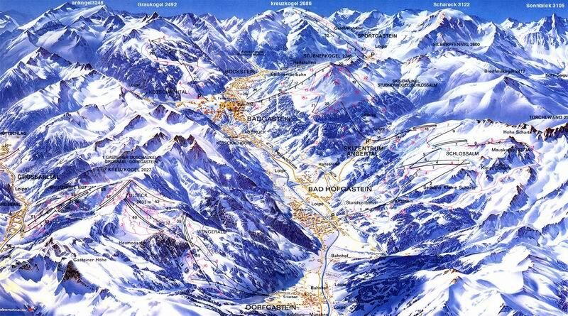 Bad Hofgastein Piste / Trail Map