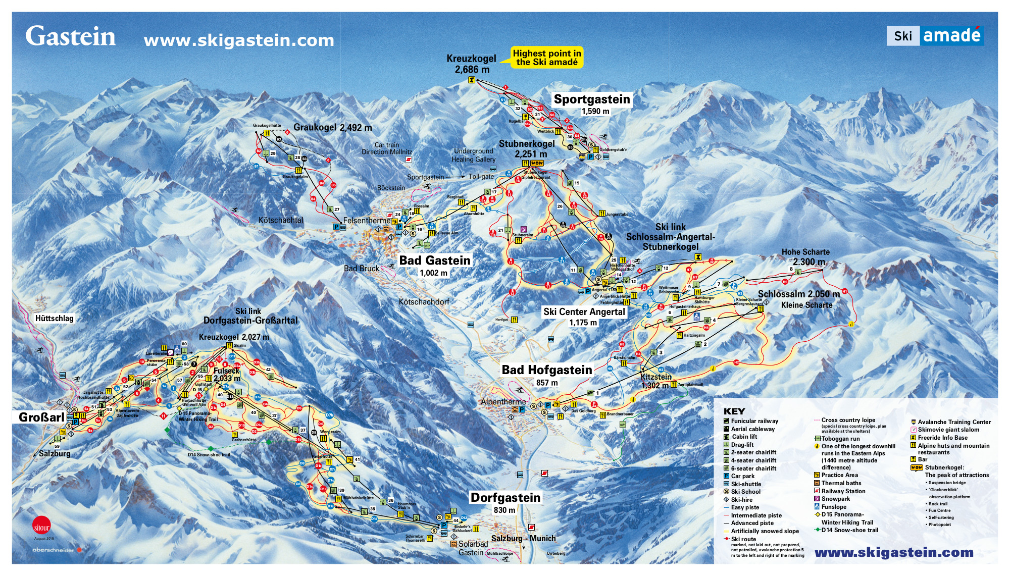 Bad Gastein Piste / Trail Map