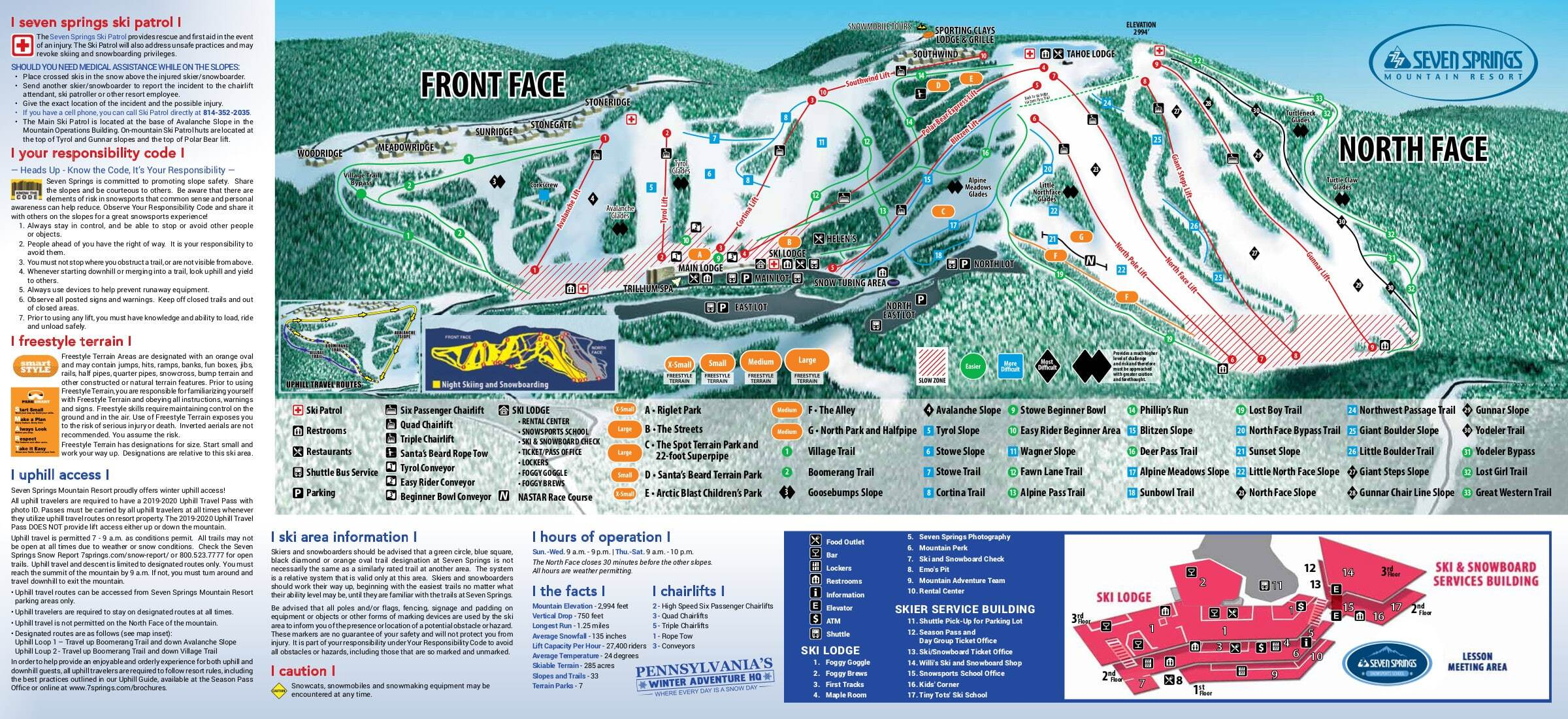 Chiesa Piste / Trail Map