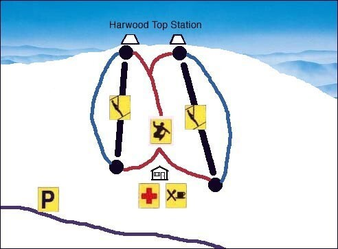 Harwood Common Piste / Trail Map