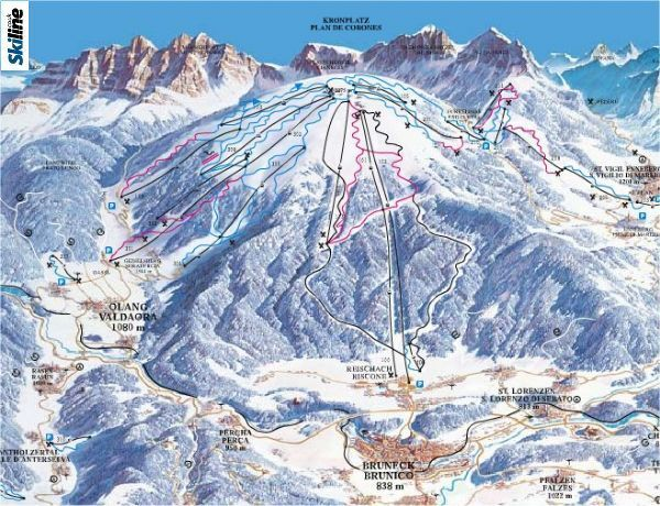Kronplatz Piste / Trail Map