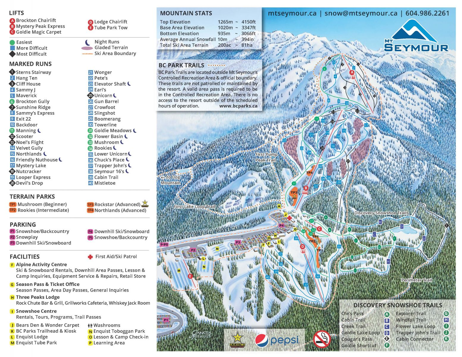 Mount Seymour Piste / Trail Map