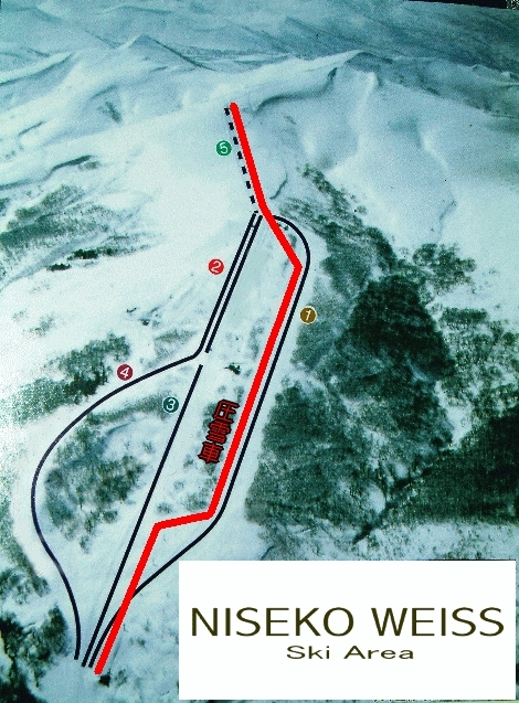 Niseko Weiss Piste / Trail Map