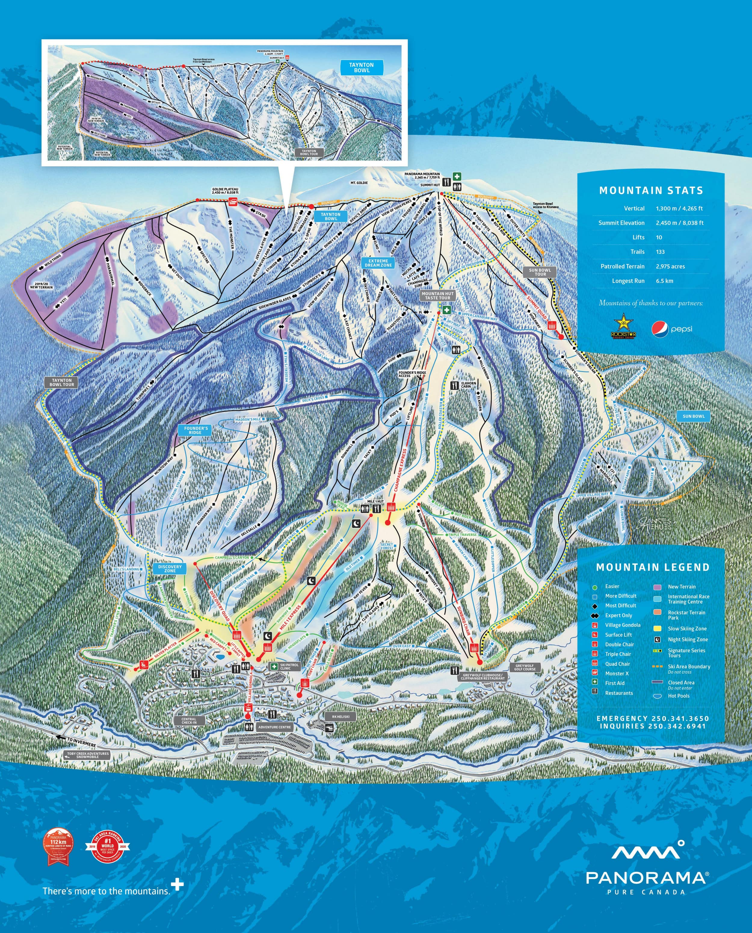 Panorama Mountain Resort Piste / Trail Map