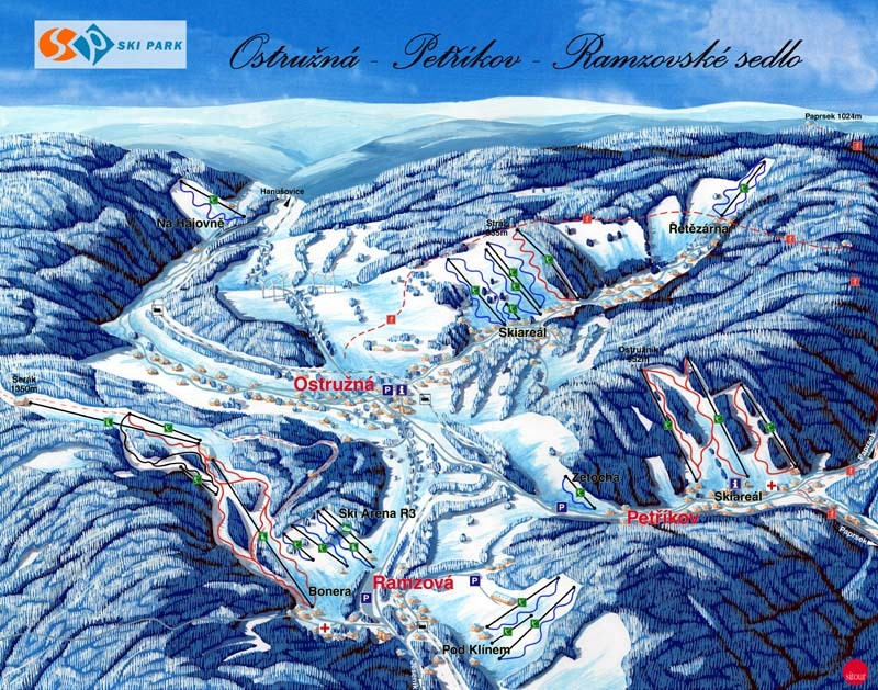 Petříkov Piste / Trail Map