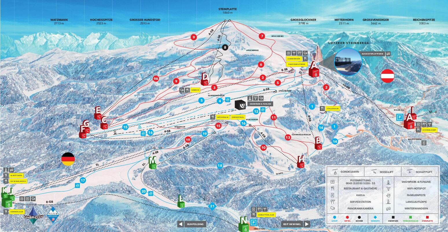 Reit im Winkl Piste / Trail Map