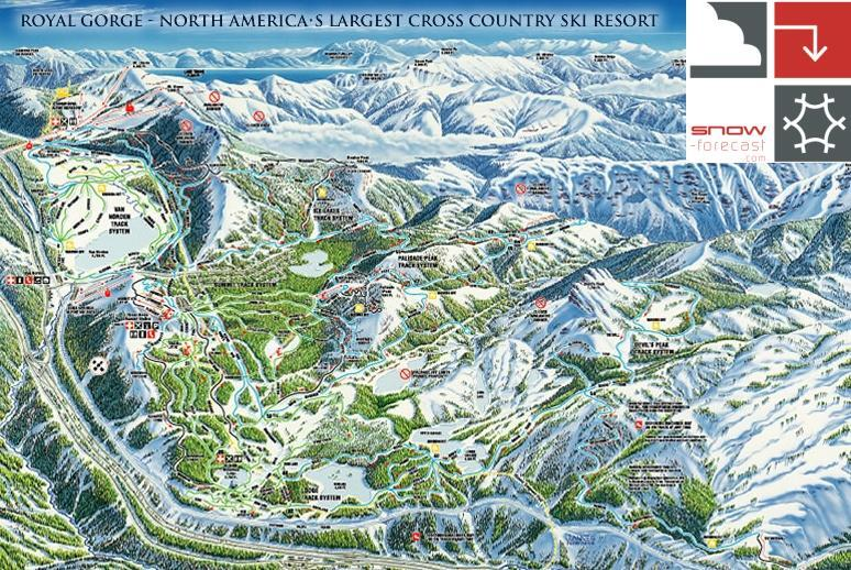 Royal Gorge Piste / Trail Map