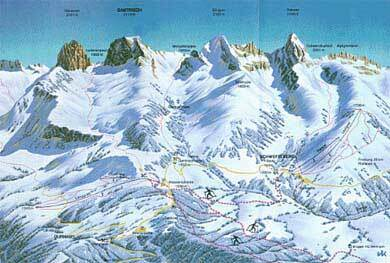 Schwarzsee Piste / Trail Map