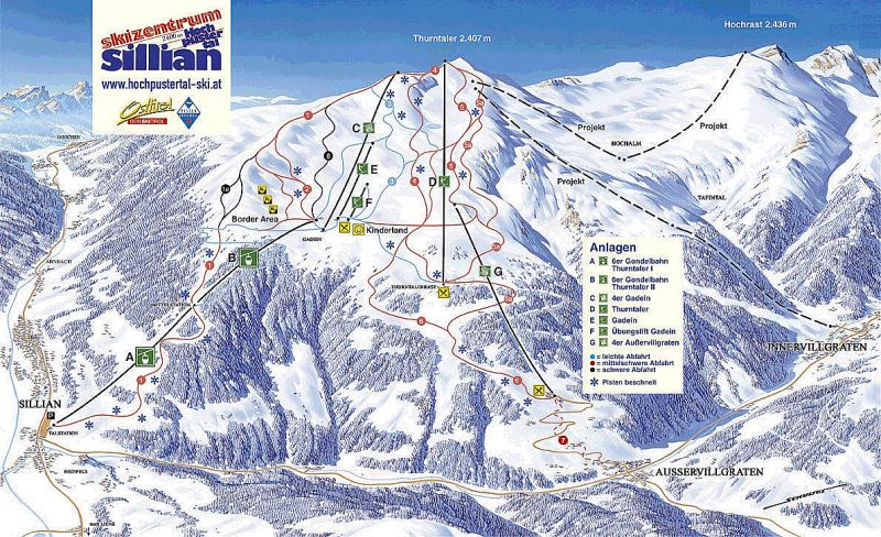Sillian Piste / Trail Map