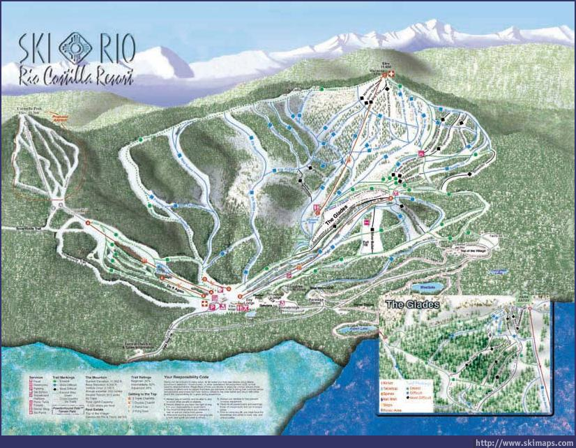 Ski Rio Piste / Trail Map
