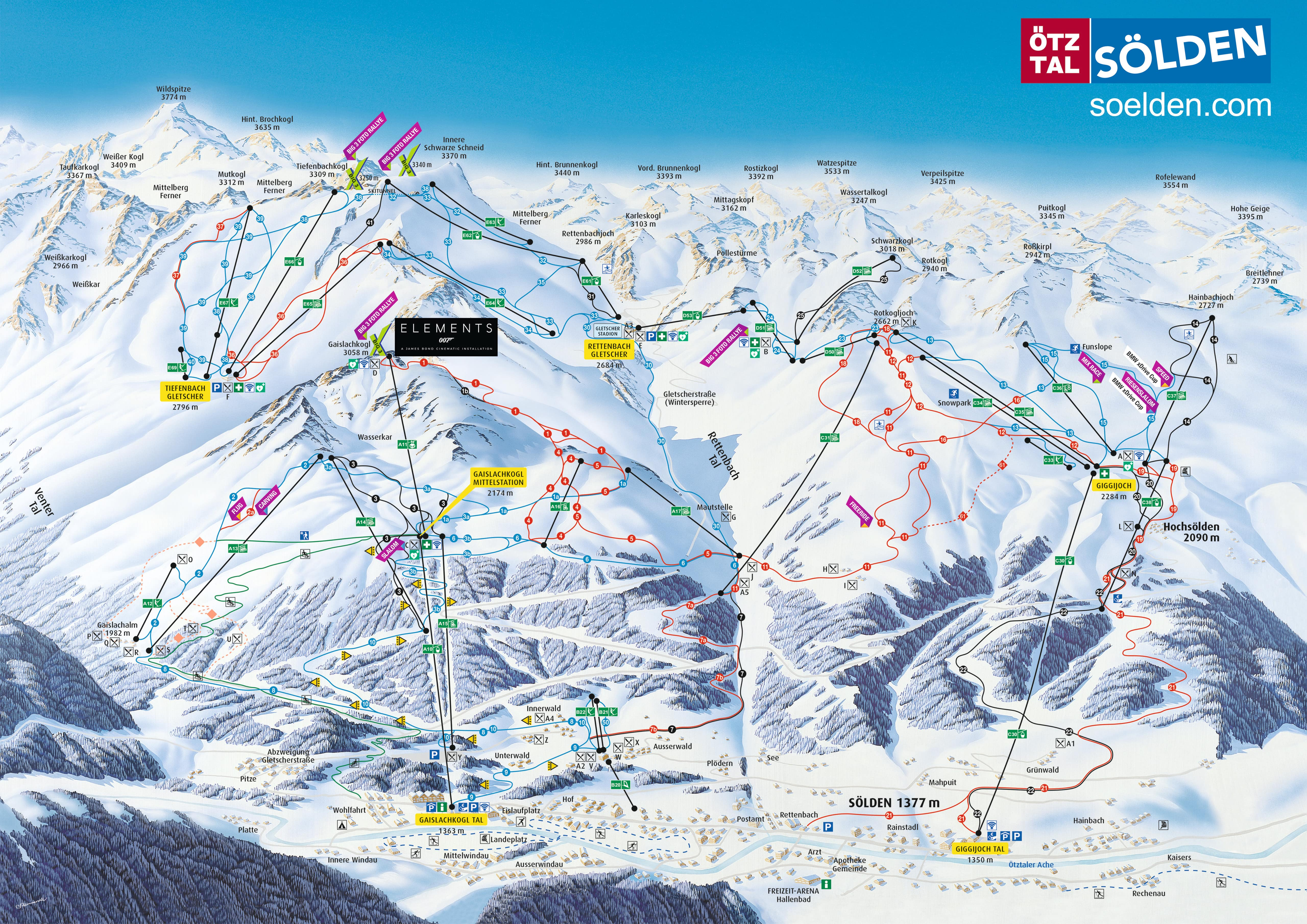 Sölden Piste / Trail Map