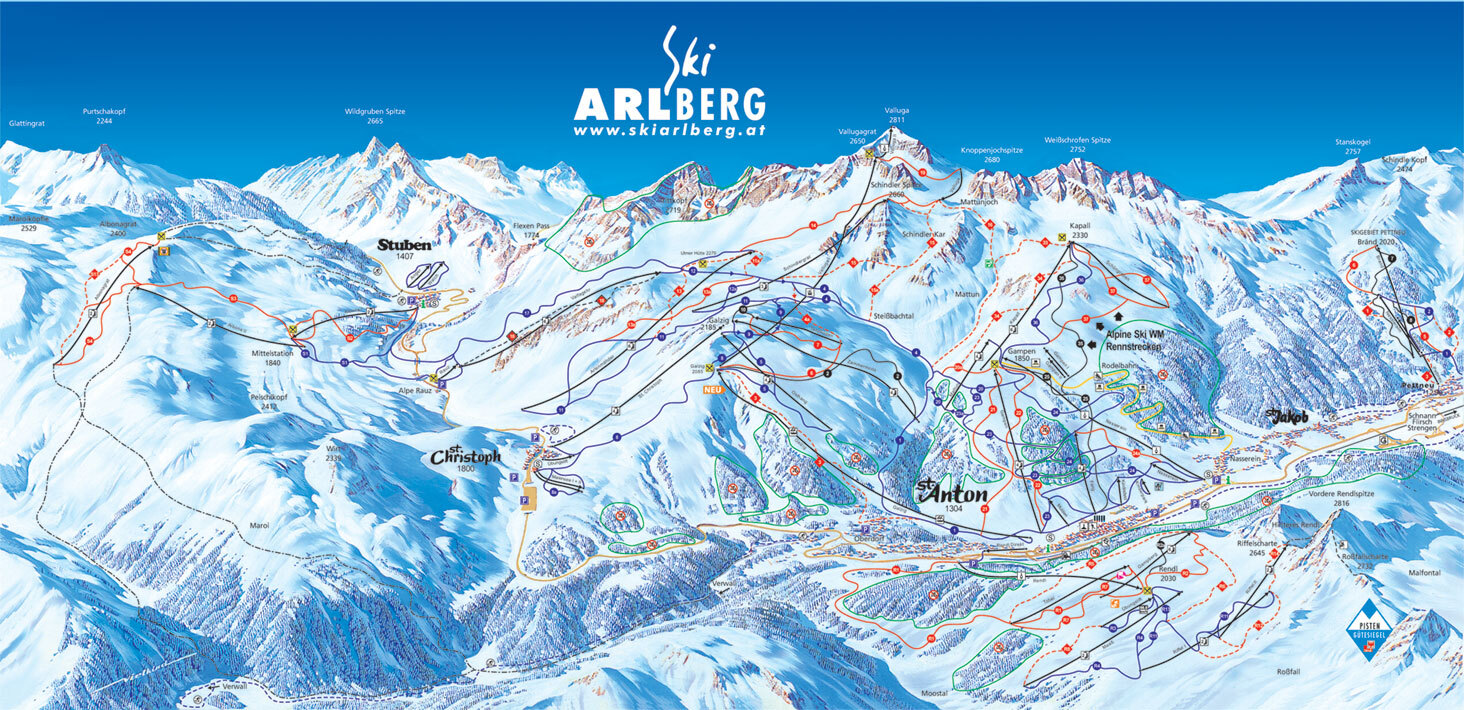 St Christoph Piste / Trail Map