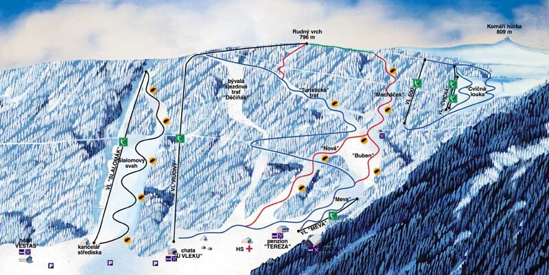 Telnice Piste / Trail Map
