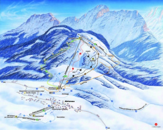 Abtenau Piste / Trail Map