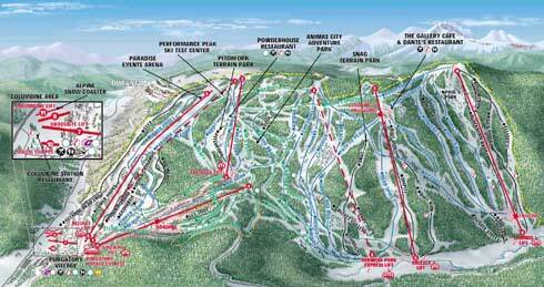 Durango Mountain Resort Piste / Trail Map