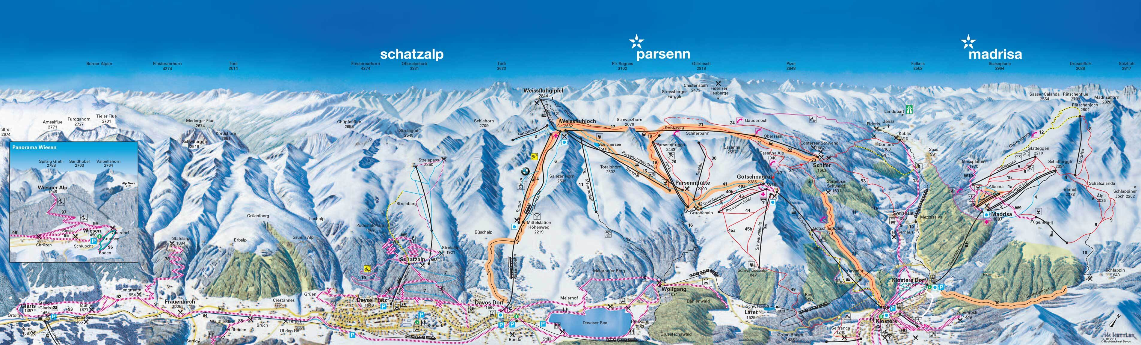 Klosters Piste / Trail Map
