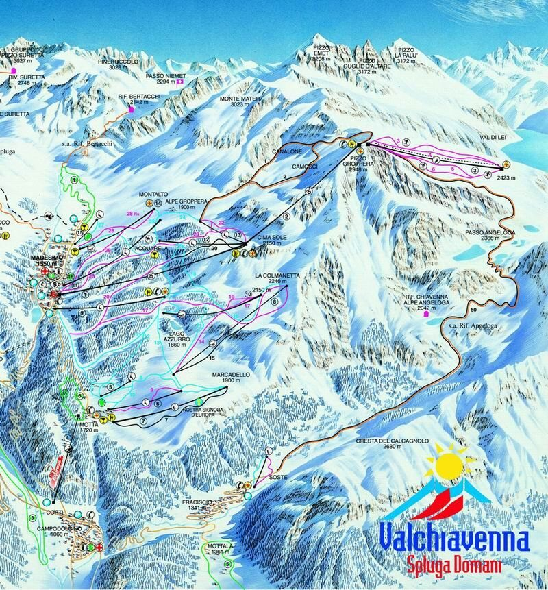 Madesimo Piste / Trail Map