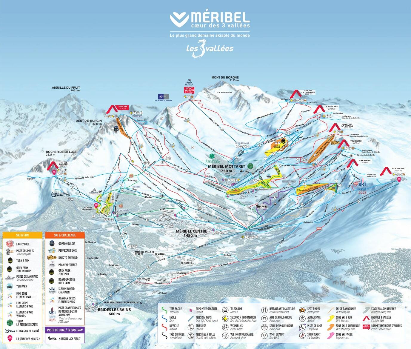 Méribel Piste / Trail Map