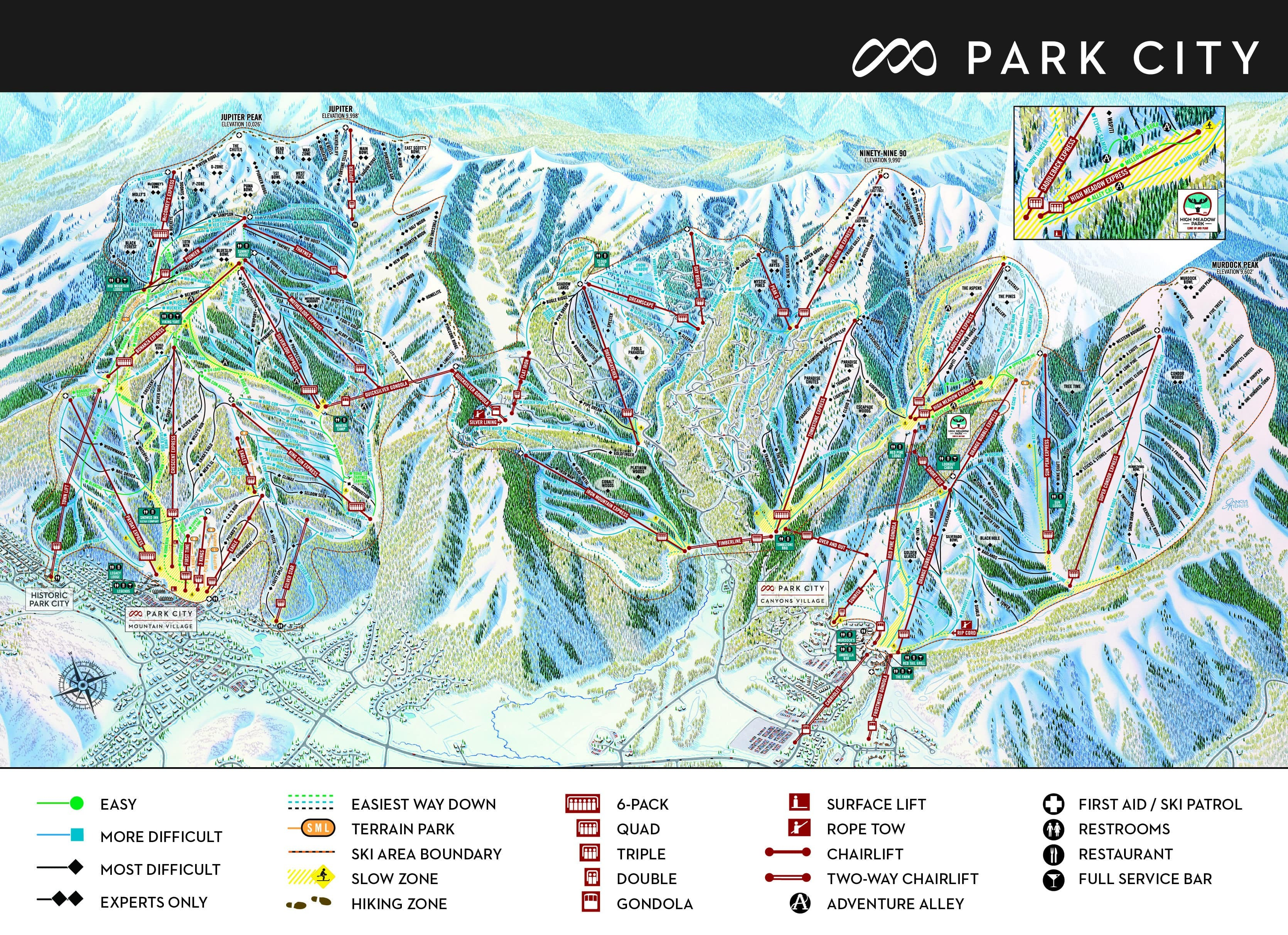 Park City Piste / Trail Map