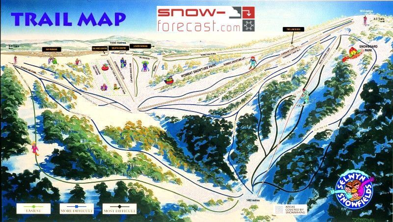 Selwyn Snowfields Piste / Trail Map