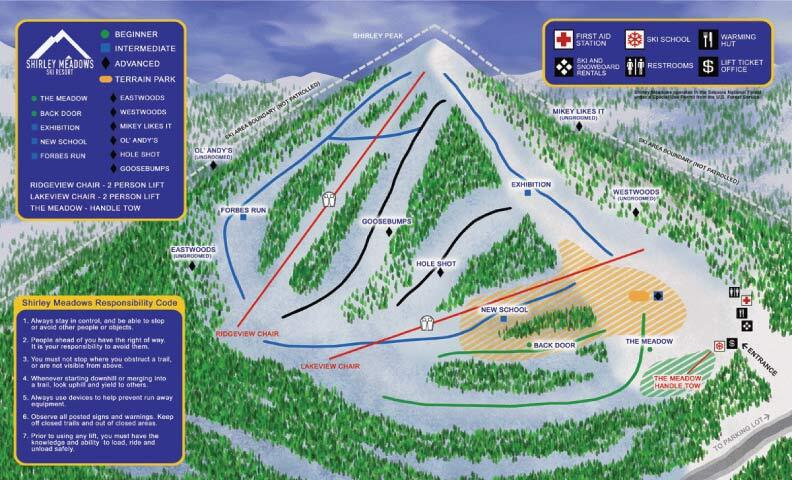 Alta Sierra at Shirley Meadows Piste / Trail Map