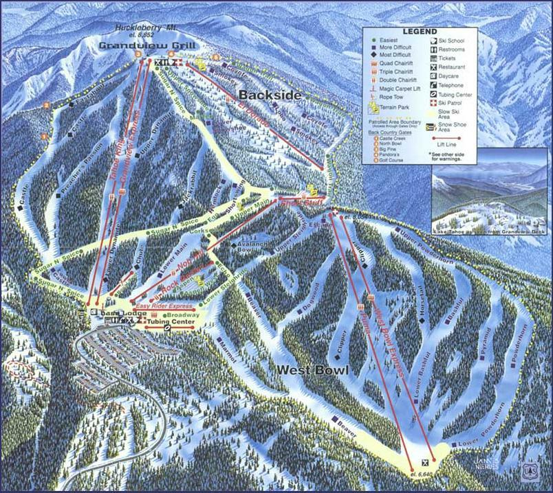 Sierra at Tahoe Piste / Trail Map