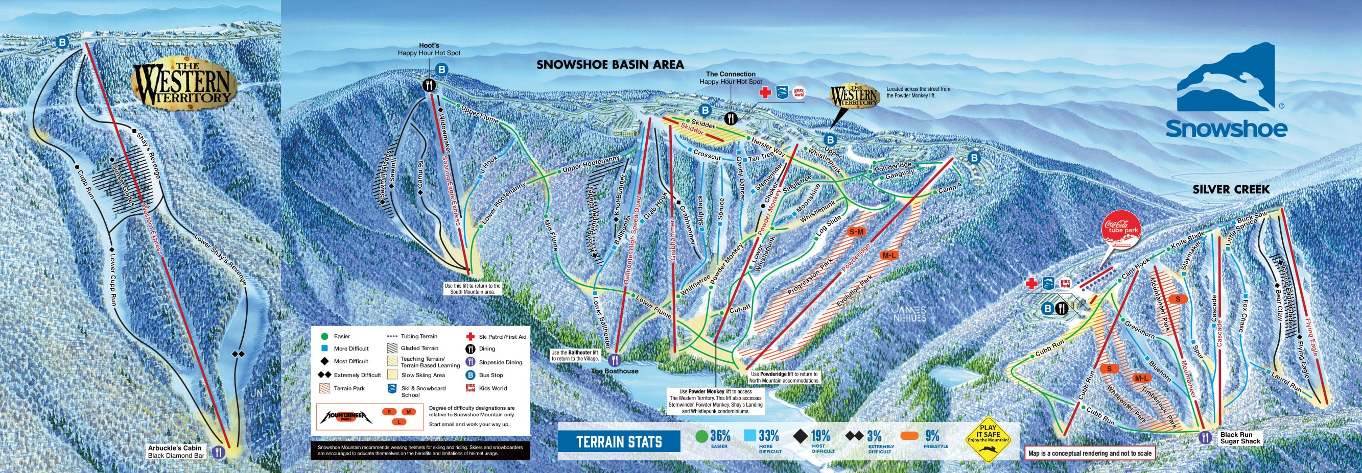 Snowshoe Mountain Resort Piste / Trail Map