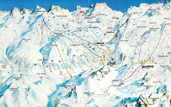 Zurs Piste / Trail Map