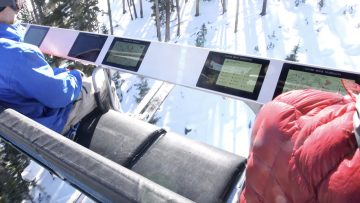 Live Information and Advertising Displayed on More Chairlift Safety Bars